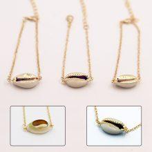Stylish Link Chain Bracelet with Seashell Pendant
