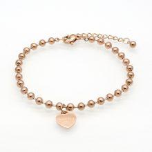 Women's Heart Charm Bracelet