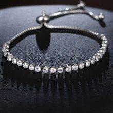 Women's Silver Plated Strand Bracelet