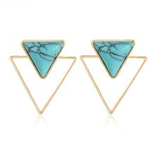 Simulated Marble Stone Women's Stud Earrings