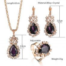 Fashion Wedding Gold Color Crystal Jewelry Sets