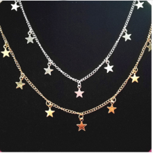 Chain Necklace with Star & Heart Charms