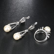 Pearl Wedding Jewelry Set Women