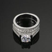 Luxury Women's Cubic Zirconia Wedding Rings Set