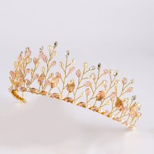 Golden Plants Wedding Tiara