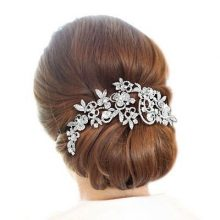 Long  Flower Hair Comb