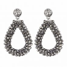 Women's Crystal Raindrop Earrings