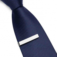 Elegant Set of Tie Clips without Pattern